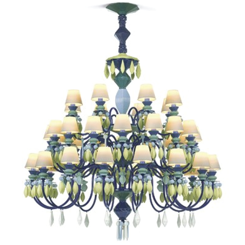 Belle de nuit chandelier 40 lights green lladro treniq 1 1513355985788