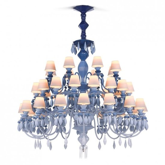 Belle de nuit chandelier 40 lights blue lladro treniq 1 1513356205120