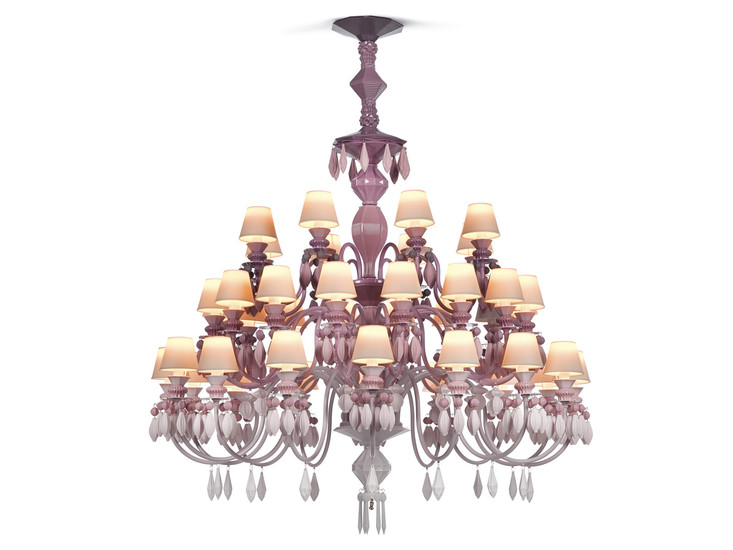 Belle de nuit chandelier 40 lights pink lladro treniq 1 1513356321438