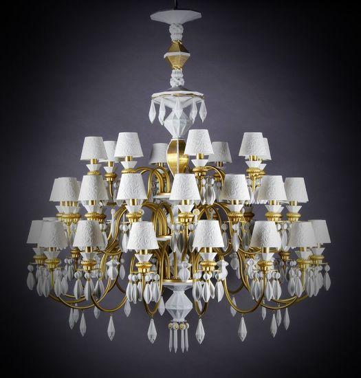 Belle de nuit chandelier 40 lights gold   24 carrats lladro treniq 1 1513357138771