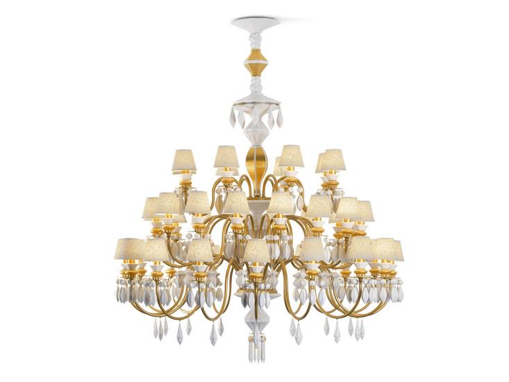 Belle de nuit chandelier 40 lights gold   24 carrats lladro treniq 1 1513357138767
