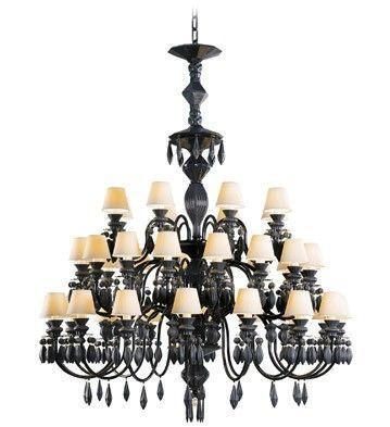 Belle de nuit chandelier 40 lights absolute black lladro treniq 1 1513357312769