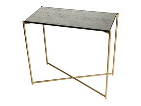 Iris-Small-Console-Table-Antiqued-Glass-With-Brass-Frame_Gillmore-Space-Limited_Treniq_0