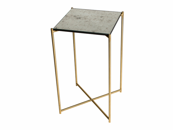 Iris square plant stand antiqued glass with brass frame gillmorespace limited treniq 1 1513595166887