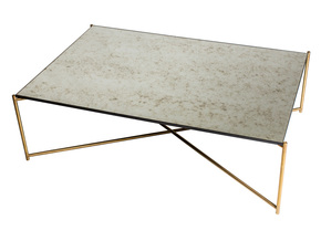 Iris-Rectangle-Coffee-Table-Antiqued-Glass-With-Brass-Frame_Gillmore-Space-Limited_Treniq_0