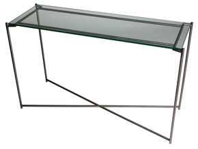 Iris-Large-Console-Table-Clear-Glass-With-Gun-Metal-Frame_Gillmore-Space-Limited_Treniq_0