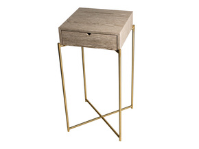 Iris-Square-Plant-Stand-Weathered-Oak-Drawer-Top-With-Brass-Frame_Gillmore-Space-Limited_Treniq_0