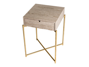 Iris-Square-Side-Table-With-Drawer-Weathered-Oak-With-Brass-Frame_Gillmore-Space-Limited_Treniq_0