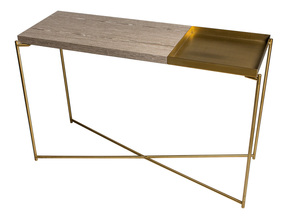 Iris-Large-Console-Table-With-Large-Weathered-Oak-Top-And-Small-Brass-Tray-With-Brass-Frame_Gillmore-Space-Limited_Treniq_0