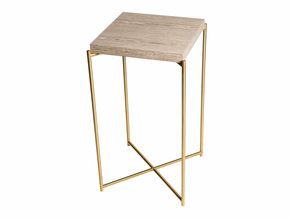 Iris-Square-Plant-Stand-Weathered-Oak-With-Brass-Frame_Gillmore-Space-Limited_Treniq_0