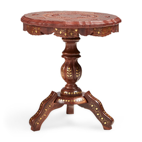 Hand-Carved-Round-Solid-Wood-Bronze-Finish-Side-Table_Shakunt-Impex-Pvt.-Ltd._Treniq_0