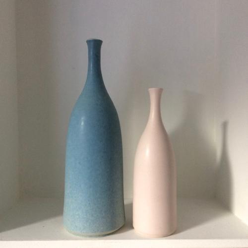 Shell pink bottle vase lucy burley ceramics treniq 1 1514639061573