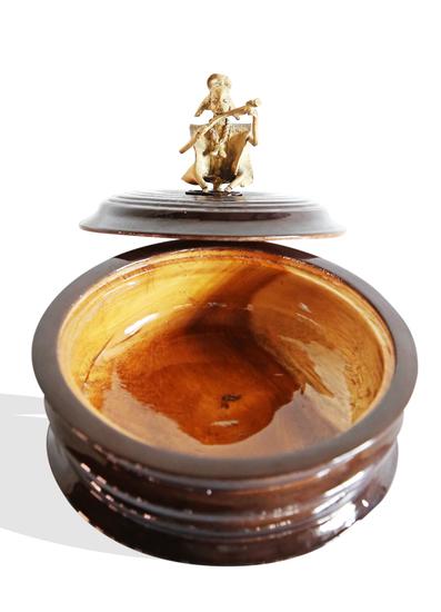 Black bread box with bronze man handle avana africa treniq 1 1515839082274