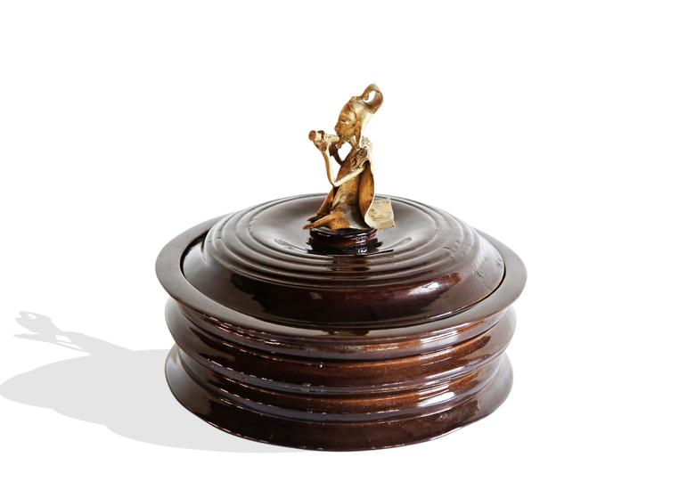 Black bread box with bronze man handle avana africa treniq 1 1515839082278