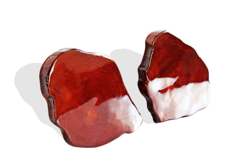Pair of mahogany colored acajou coasters avana africa treniq 1 1515844770679