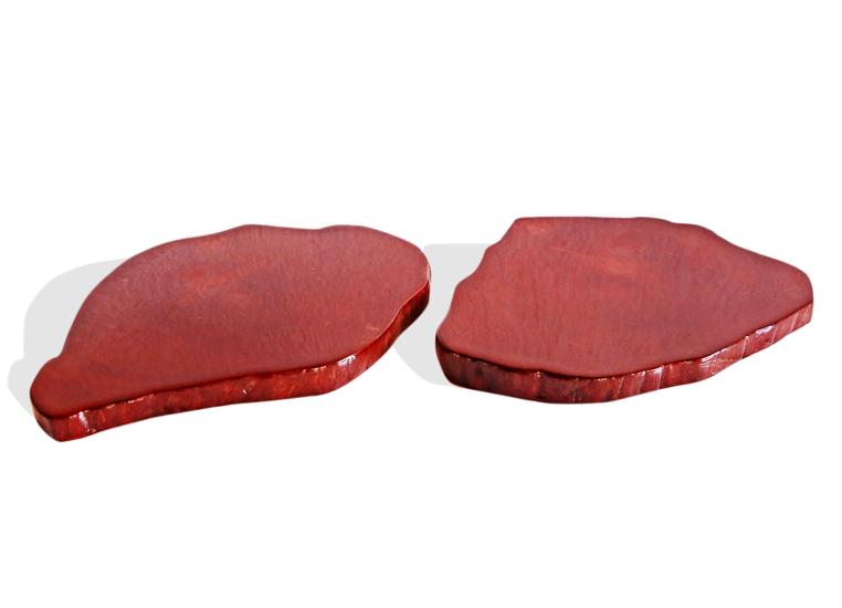 Pair of mahogany colored acajou coasters avana africa treniq 1 1515844770661