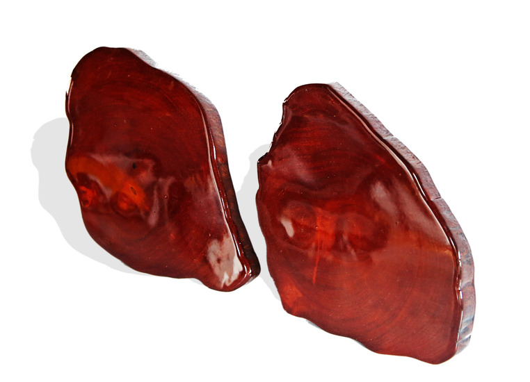 Pair of mahogany colored acajou coasters avana africa treniq 1 1515844770674