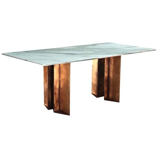 The metropolis marble and brass dining table by lind and almond  novocastrian treniq 1 1516186753031