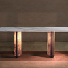 The metropolis marble and brass dining table by lind and almond  novocastrian treniq 1 1516187292219