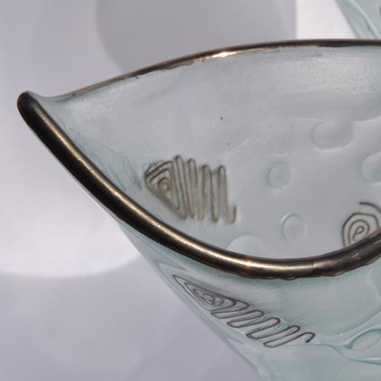 Vase clear with metal and oldplatinum 25 cm arteglass treniq 8 1516293434030