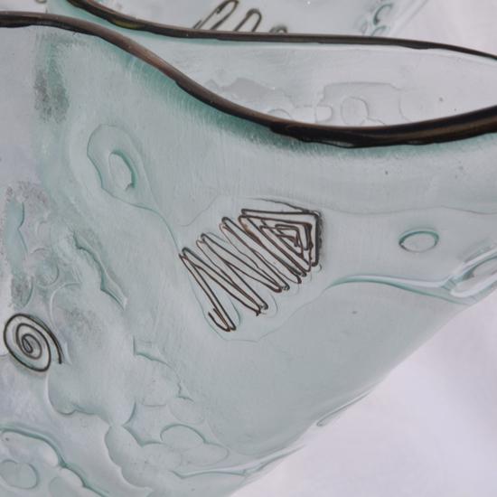 Vase clear with metal and oldplatinum 25 cm arteglass treniq 8 1516293434034