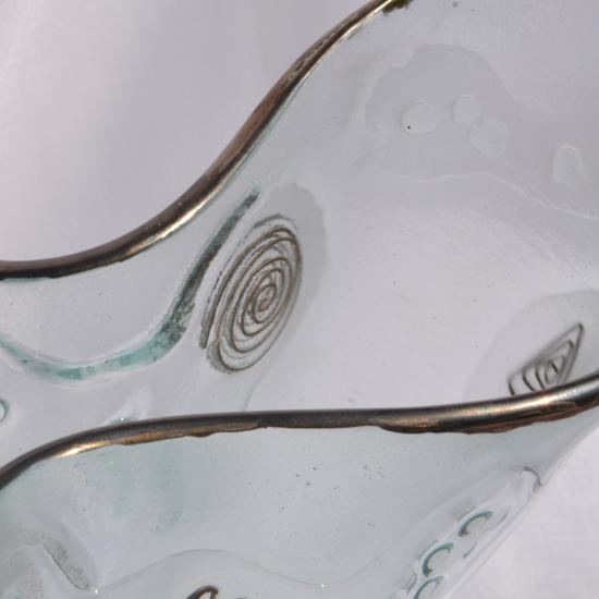 Vase clear with metal and oldplatinum 25 cm arteglass treniq 8 1516293434036