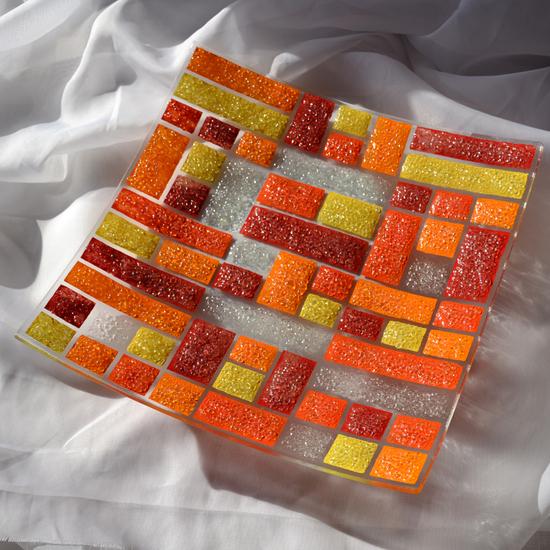 Bowl orange yellow red 30x30 shallow arteglass treniq 4 1516294010033