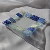 Bowl blue white 12x12 plate arteglass treniq 6 1516294157031