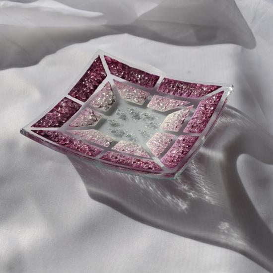 Bowl violet white 12x12 shallow arteglass treniq 6 1516294214943