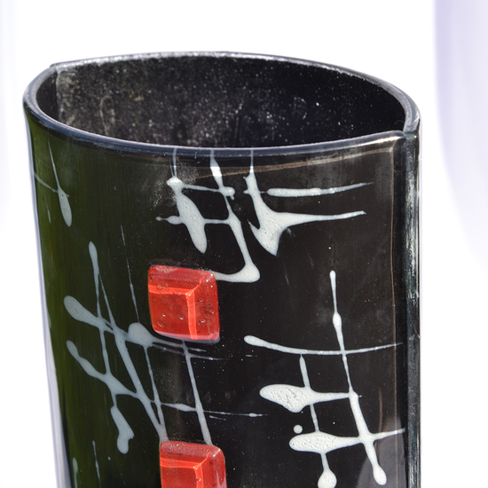 Vase black white 30 cm rounded arteglass treniq 7 1516294874794