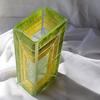 Vase green yellow 30 cm square arteglass treniq 5 1516295084205