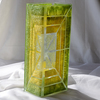 Vase green yellow 30 cm square arteglass treniq 5 1516295084198