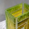 Vase green yellow 30 cm square arteglass treniq 5 1516295084208