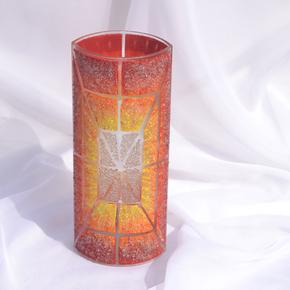Vase-Orange-Yellow-Red-30-Cm-Rounded_Arte-Glass_Treniq_0