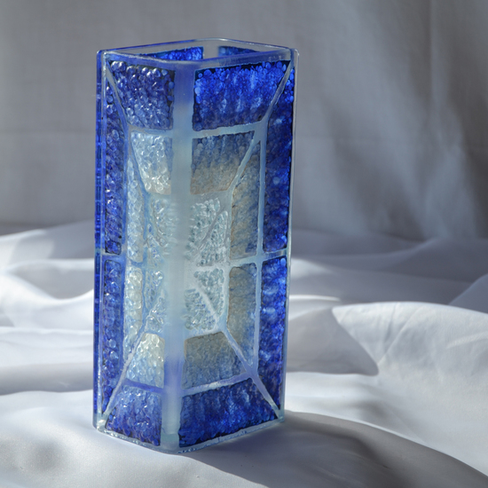 Vase blue white 20 cm square arteglass treniq 5 1516295181132