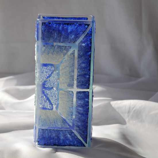 Vase blue white 20 cm square arteglass treniq 5 1516295181145