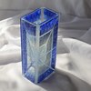 Vase blue white 20 cm square arteglass treniq 5 1516295181137