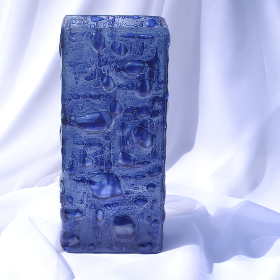Vase dark blue 30 cm square arteglass treniq 8 1516295293889