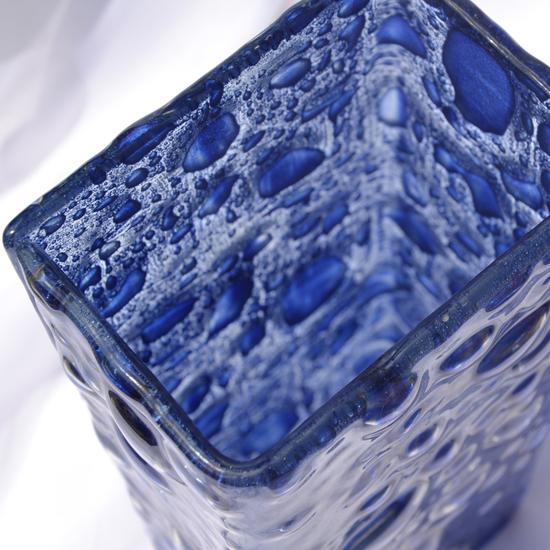 Vase dark blue 30 cm square arteglass treniq 8 1516295293967