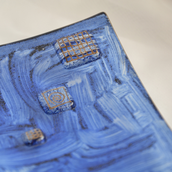 Bowl dark blue with oldplatinum 20x20 shallow arteglass treniq 7 1516295438467
