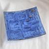 Bowl dark blue with oldplatinum 20x20 shallow arteglass treniq 7 1516295438409