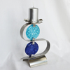 Candlestick %22s%22 stainless steel   turquoise and blue glass arteglass treniq 3 1516295824731