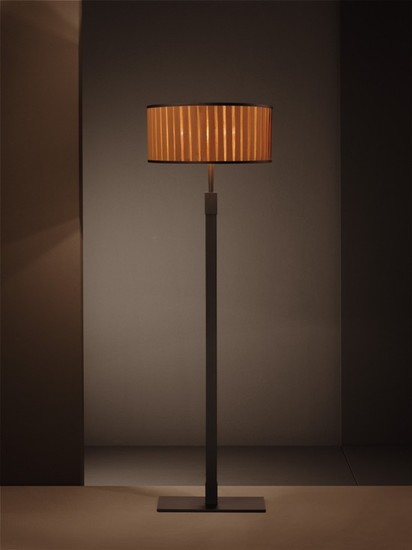 Ginevra classic flat shade burnished floor lamp younique plus treniq 1 1516614400394
