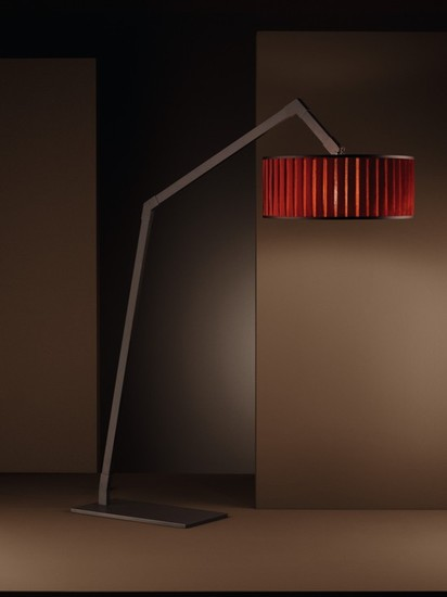 Ginevra arco pleated shade chrome floor lamp younique plus treniq 1 1516615721369