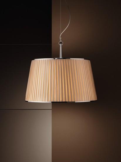 Divina pleated shade chrome pendant lamp younique plus treniq 1 1516630851670
