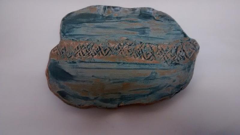Organic matt blue plate 109 ceramics treniq 1 1516747374546