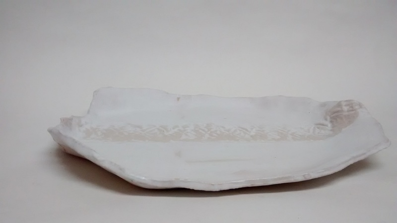 Simply white organic plate textured detail 109 ceramics treniq 1 1516749753206