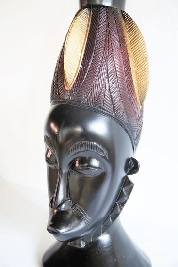 Baule mask   gold and black avana africa treniq 1 1516796954673