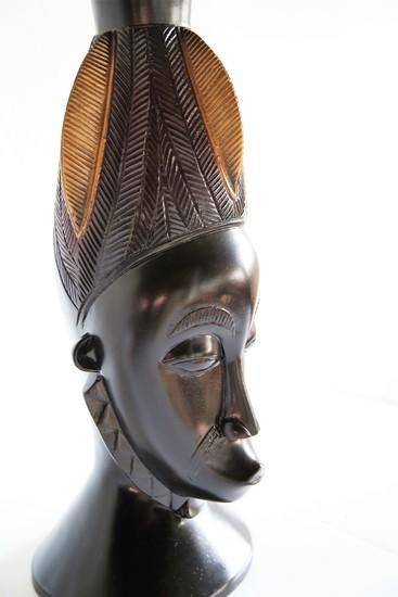 Baule mask   gold and black avana africa treniq 1 1516796954675