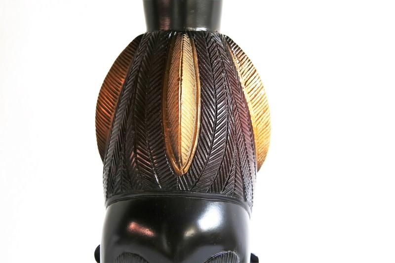 Baule mask   gold and black avana africa treniq 1 1516796954671